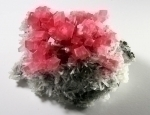 Rhodochrosite on Quartz from Sweet Home Mine [Hedgehog Pocket], Alma, Alma District, Park Co., Colorado, United States [686]